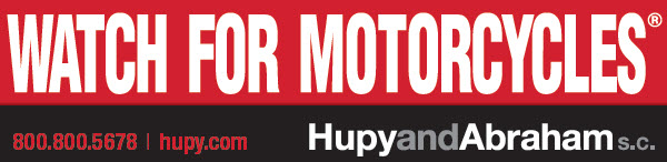 "Get Your FREE Red ""Watch For Motorcycles"" Sticker"