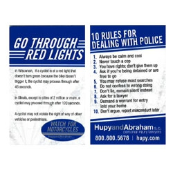 "Order Your ""FREE Red Light Card -  Sportbike Style"