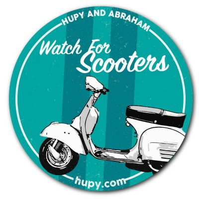 "Get Your FREE ""Watch For Scooters"" Bumper Sticker"