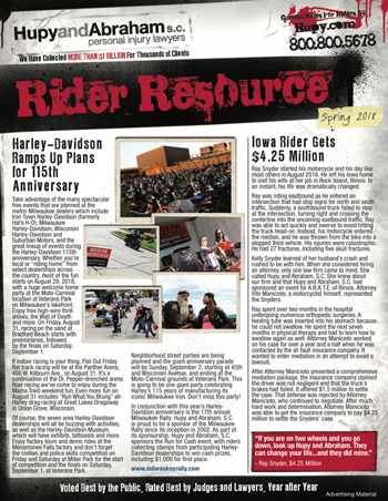 Two Great Newsletters for Riders in Illinois, Iowa and Wisconsin