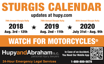 Get Your Riders' Rights With Sturgis Calendar Card