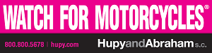 "Get Your FREE Pink ""Watch For Motorcycles"" Sticker"