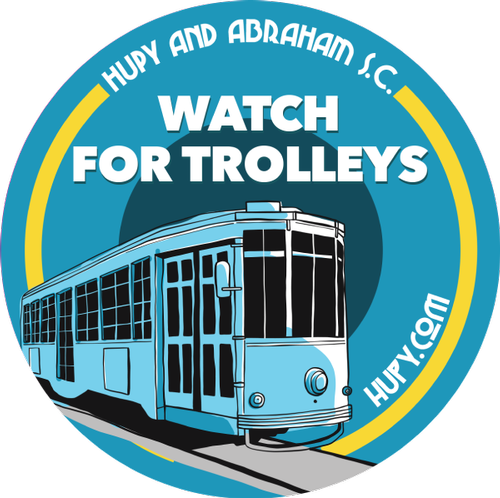"""Watch For Trolleys"" - Get Your FREE Sticker Now"