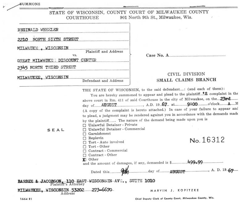 Summons form small claims milwaukee wi hdetmrl – Civil Summons Form