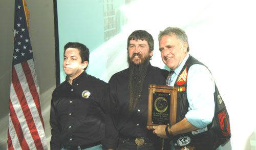 The Motorcycle Riders Foundation presented Dave Zien the Champion of Motorcyclists Rights and Safety award