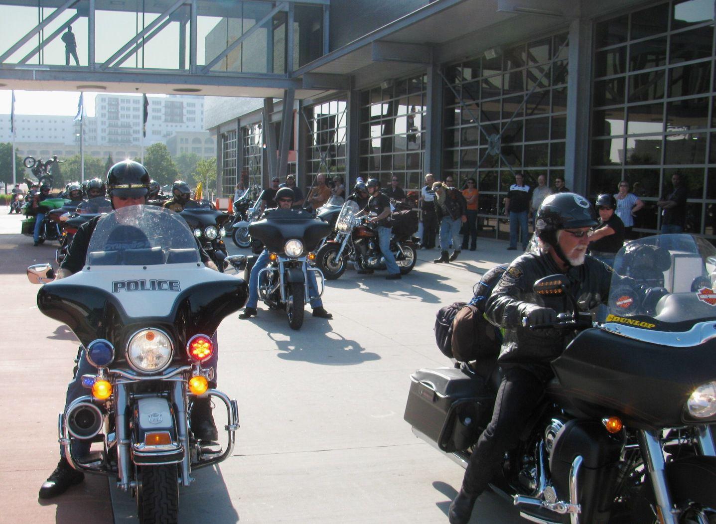 Bill Davidson prepares to lead riders to Sturgis