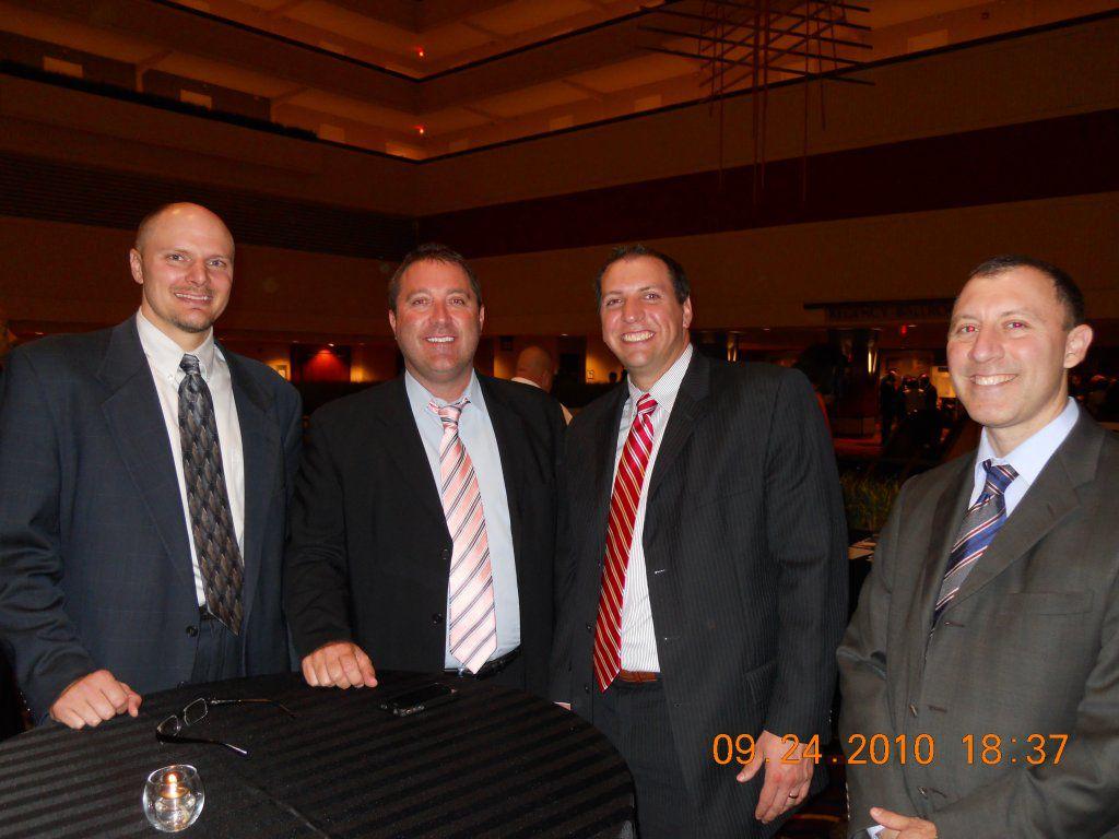 Hupy & Abraham Attorneys Todd Korb, Jason Abraham, Tom Perlberg and Evan Claditis at the 2010 NAACP Freedom Fund Dinner