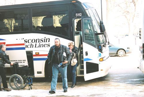 Southeastern Wisconsin Riders Leave One Of Two Busses Sponsored By Hupy and Abraham